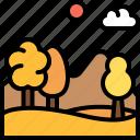 landscape, land, terrain, autumn