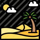 landscape, land, terrain, dune, desert, sand, palm