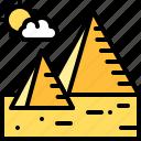 landscape, land, terrain, pyramid, desert, sand