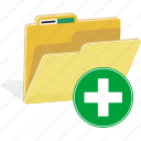 directory, add, folder, file, new, documents, data icon