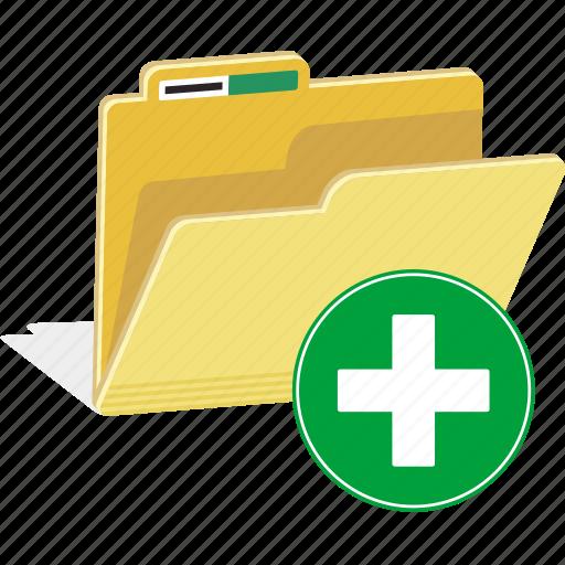 add, data, directory, documents, file, folder, new icon