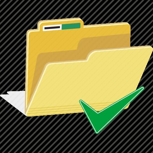 correct, directory, file, folder, okay, true icon