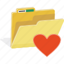 directory, favorite, file, folder, heart, love icon