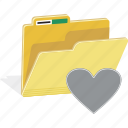 data, directory, document, favorite, file, folder, love icon