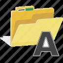 directory, file, folder, font, office, paper