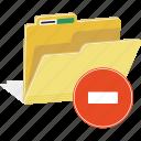 directory, file, folder, forbidden, sign, erase, remove