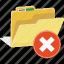 directory, folder, forbidden, warning, erase, hide, remove