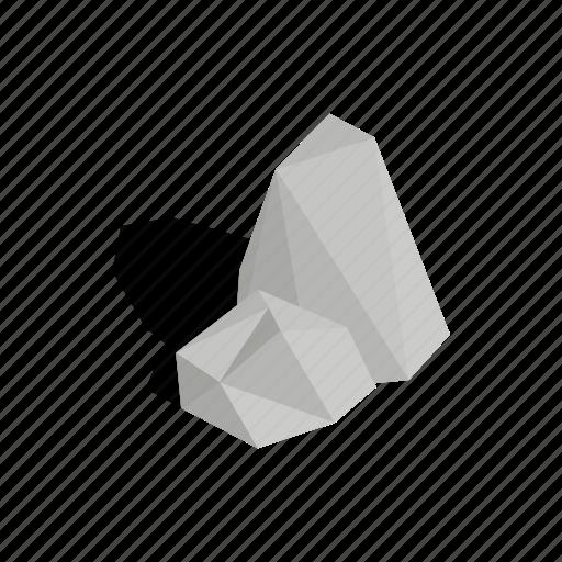 Boulder, stones, isometric, natural, big, element, design icon