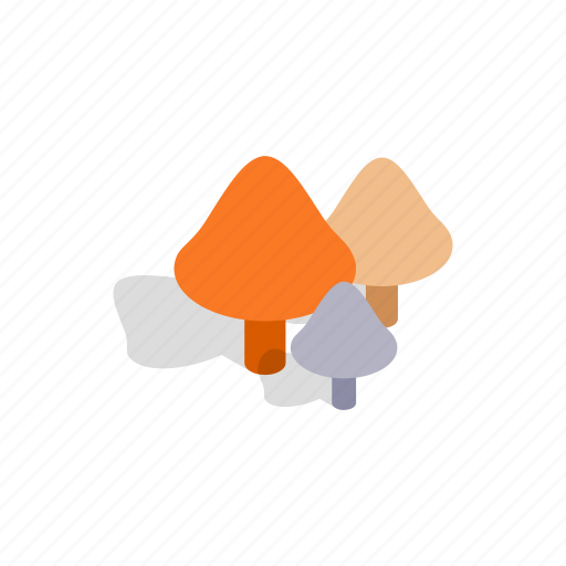 Design, graphic, healthy, isometric, mushrooms, nature, organic icon - Download on Iconfinder