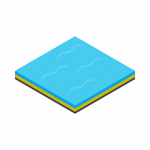 blue, isometric, nature, ocean, sea, water, wave icon
