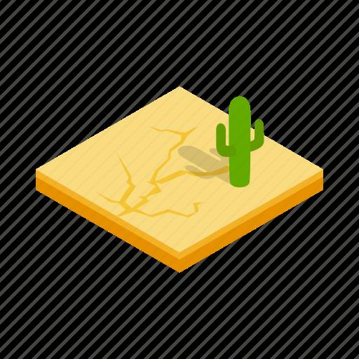 cactus, desert, isometric, landscape, nature, sand, sun icon