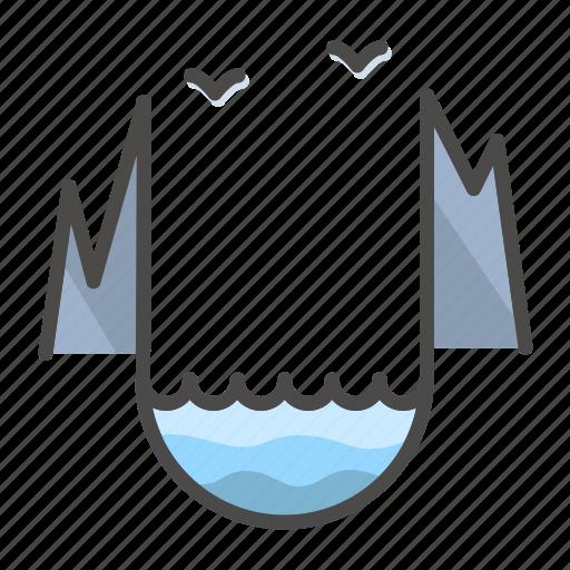fjord, lake, landscape, nature, norway icon