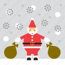 snowing, santa, christmas, santa claus, snow