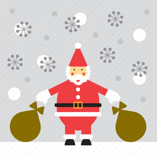 christmas, santa, santa claus, snow, snowing icon