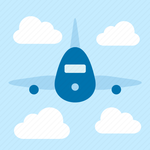 airplane, cloud, flight, plane, sky, transport icon