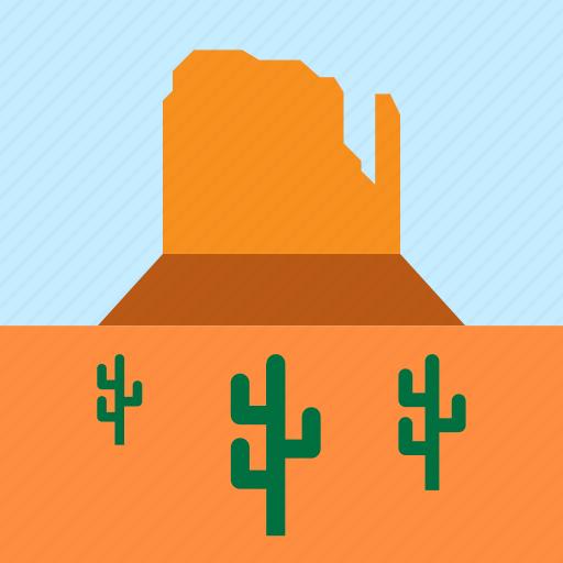 cacti, cactus, landscape, monument valley, mountain, nature, united states icon
