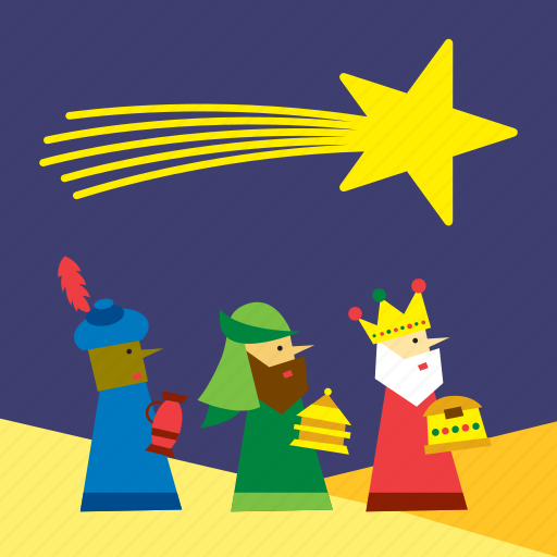 christmas, desert, landscape, magi, three kings, three wise men, xmas icon