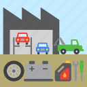 car, garage, repair, shop, tool, tow truck icon