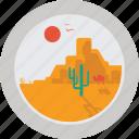 camel, sun, hot, rock, cactus, desert