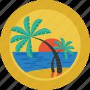 relax, island, ocean, palm trees, sea, sun, holiday, beach, landscape