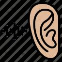 ear, body, listen, listening