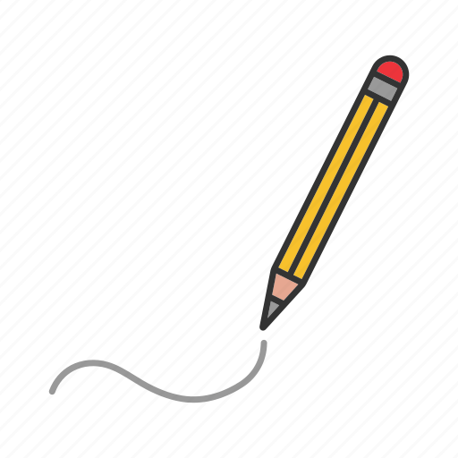 Drawing, handwriting, line, paper, pencil, write, writing icon