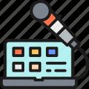 browser, laptop, online, speak, translate, translation