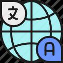 communication, global, language, speech, translate, translation, world icon