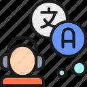 interpreter, online, outline, speak, translate, translation, translator