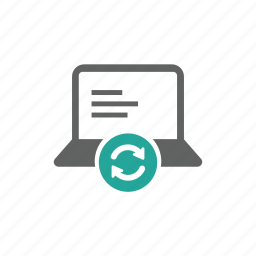 computer, device, hardware, laptop, update icon
