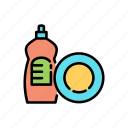 bottle, cleaning, clothing, detergent, dishwasher, laundry, washing icon