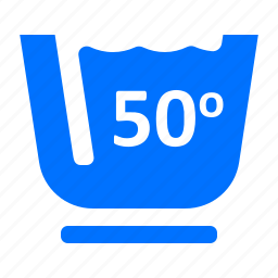 fifty, laundry, washing icon