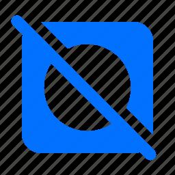 dry, laundry, no, tumble icon