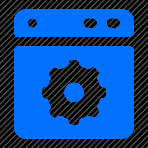 machine, options, settings, washing icon