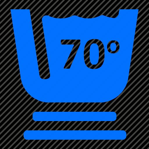 degree, laundry, seventy, washing icon