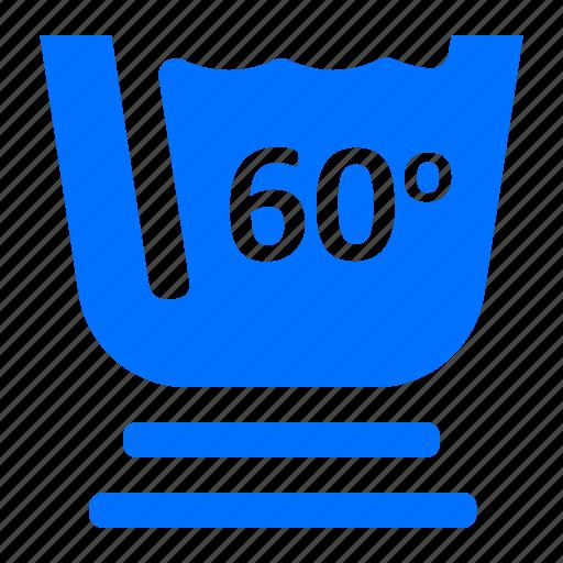degree, laundry, sixty, wahsing icon
