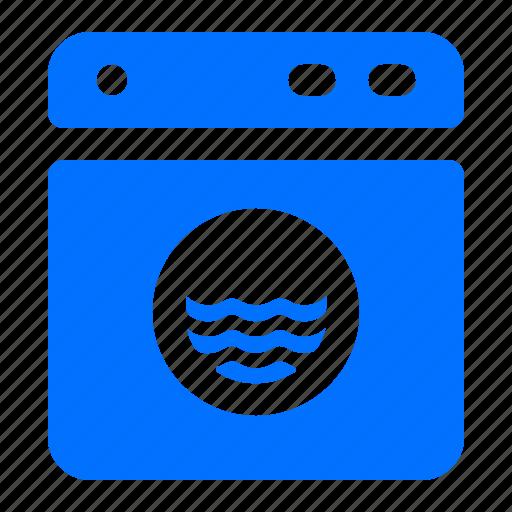 machine, washing, water icon