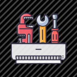 ac, driver, screw, service, wrencher icon