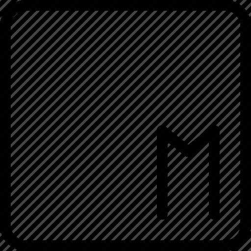 m, measure, measurement, medium, size icon