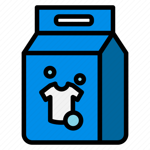 cleaning, clothes, detergent, laundry, powder, washing icon