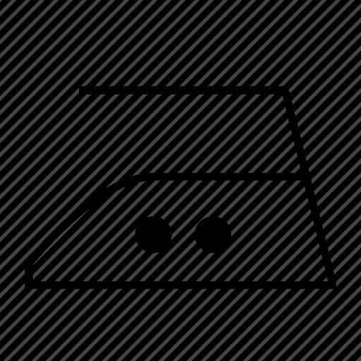 care, iron, laundry, medium temperature icon