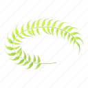 branch, cartoon, circle, frame, isometric, laurel, wreath