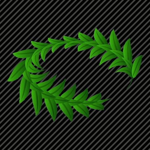 Award, branch, cartoon, decoration, green, isometric, laurel icon - Download on Iconfinder
