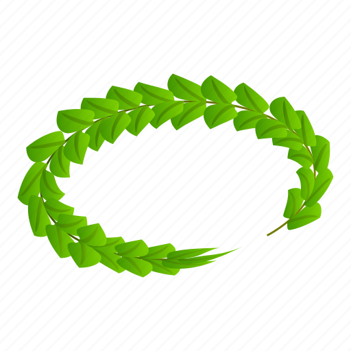 Cartoon, circle, green, isometric, laurel, victory, wreath icon - Download on Iconfinder