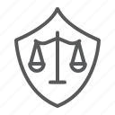 defense, guard, justice, law, protect, safety, shield icon