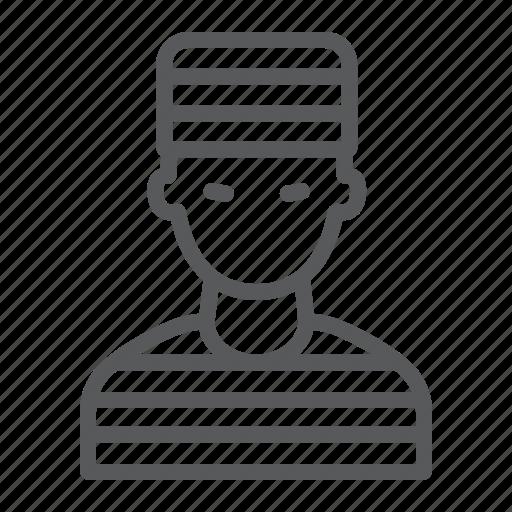 Crime, criminal, jail, law, man, person, prisoner icon - Download on Iconfinder