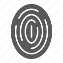 finger, fingerprint, id, print, scan, security, thumbprint icon