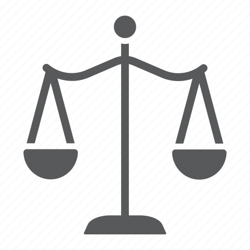 balance, court, crime, justice, law, scales icon