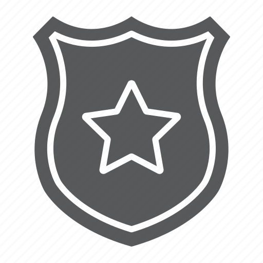 Badge, law, officer, police, shield, star icon - Download on Iconfinder