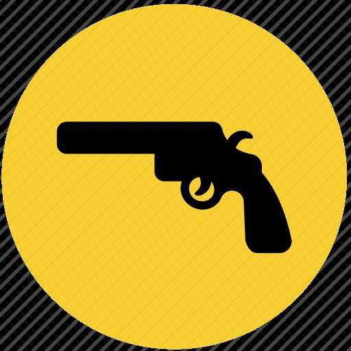 crime, gun, law, pistol, police, revolver icon